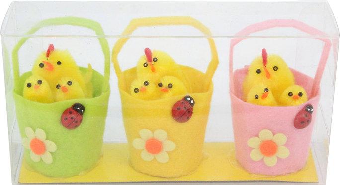 Chicks in a Basket Easter Decoration