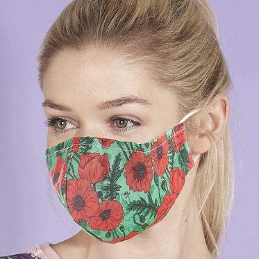 Poppies Reusable Face Covering