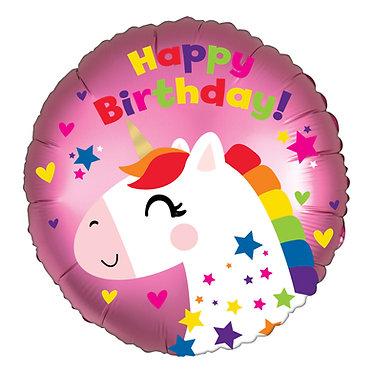 Pink Unicorn Birthday Balloon