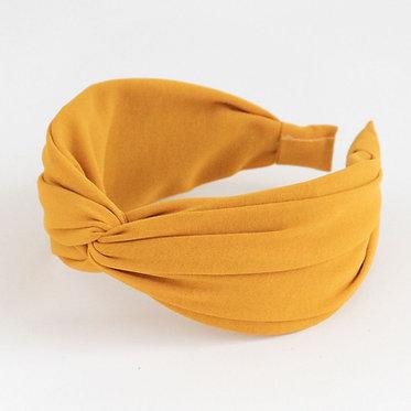 Yellow Satin Headband by Caroline Gardner