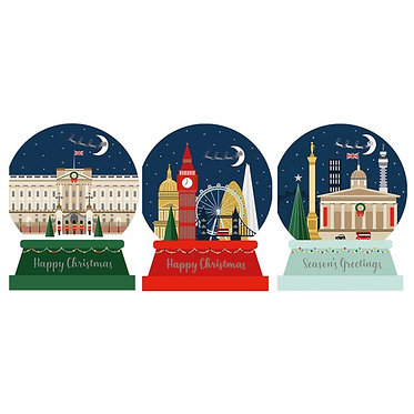 Christmas Cards Box London Snowglobe