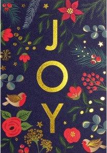 Peter pauper Christmas Card Box Joy