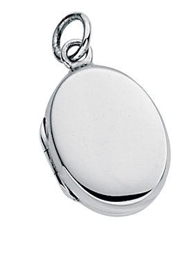 Small Plain Oval Locket Pendant
