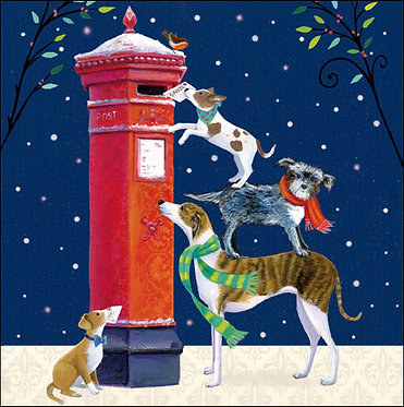 Charity Christmas Card Pack Dogs Posting