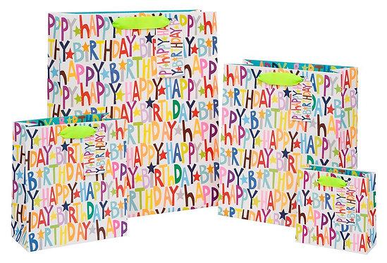 Bright Happy Birthday Bags