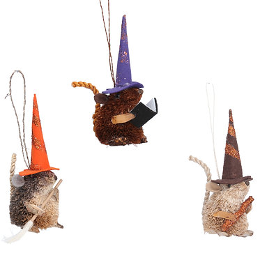Halloween Mouse Witch Hanging Decoration