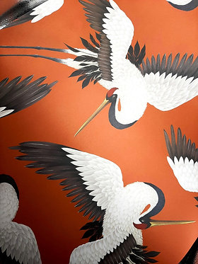 Flying Cranes Giftwrap by Anna Glover