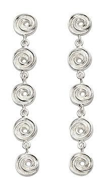 Textured Swirl Drop Earrings