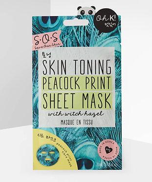 Skin Toning Peacock Print Sheet Mask