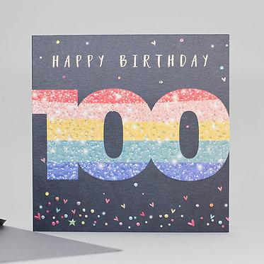 100 Birthday Card