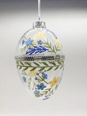 Hinged Decorative Glass Egg