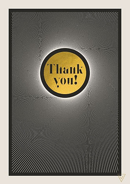 Thank you Black and Gold card