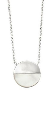 Mother of Pearl Disc Necklace