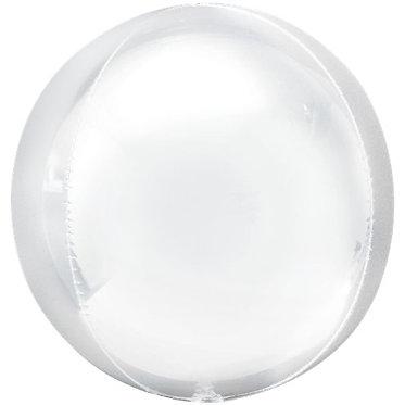 White Orbz Helium Filled Balloon