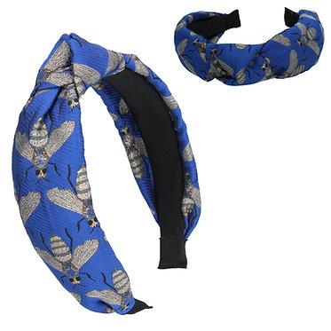 Blue Jacquard Headband