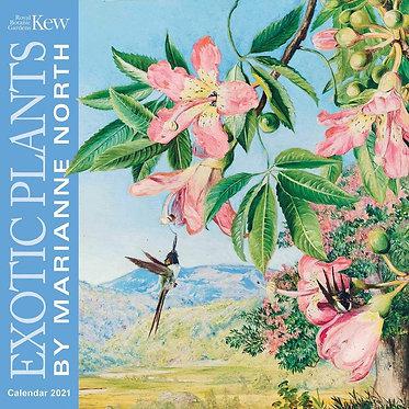 Kew Gardens Exotic Plants Wall Calendar 2021