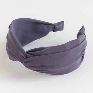 Grey Satin Headband