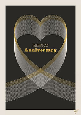 Anniversary Card by The Art File