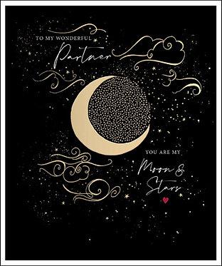 Partner Moon and Stars Card