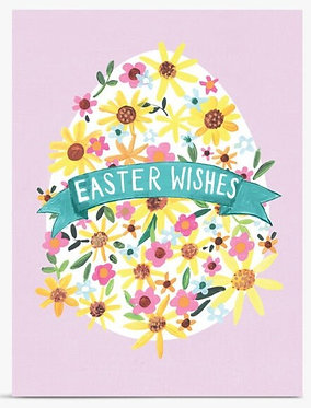 Easter Wishes Egg Card by  Paper Salad