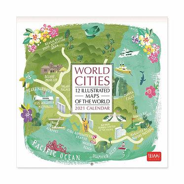 World Cities Wall Calendar 2021
