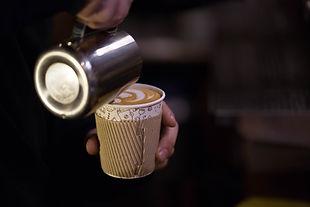 Barista Making Latte To Go