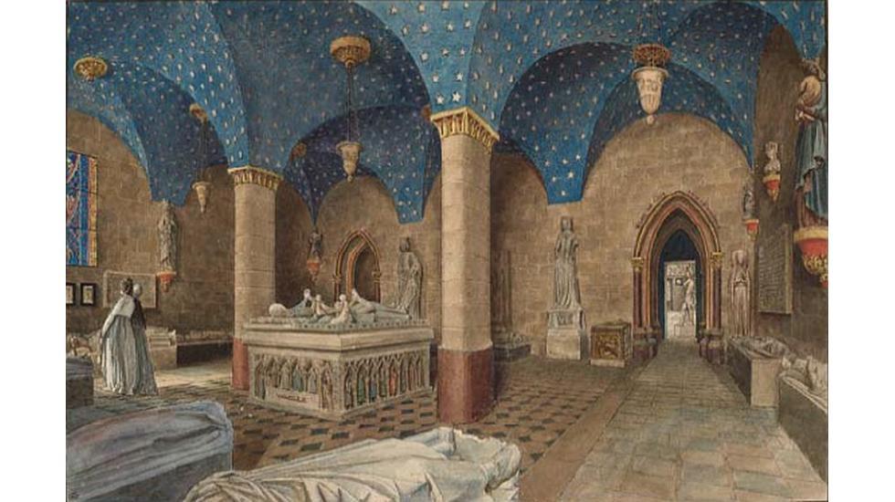 Jean Lubin Vauzelle, Musée des Monuments Français, salle du XIIIe siècle (détail), RMN-Grand Palais (musée du Louvre)