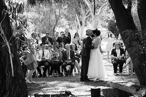 first kiss, wedding day, ceremony, love