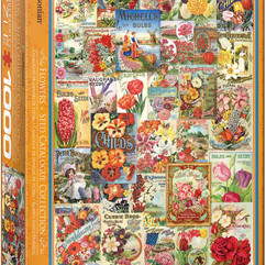 Flowers seed vintage catalog collection.