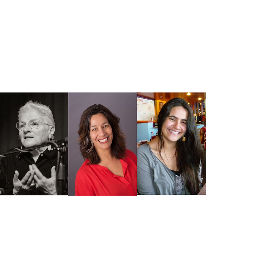 Poets Margaret Randall, Michelle Otero, Isabel Ribe