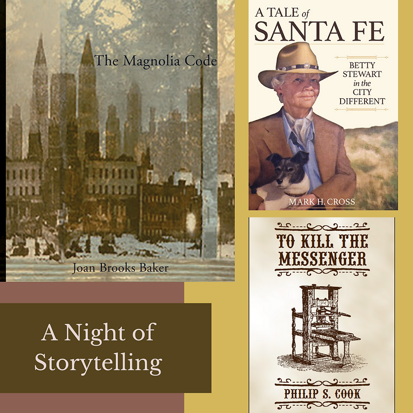 An Evening of Storytelling with Joan Brooks Baker, Mark Cross, Philip Cook