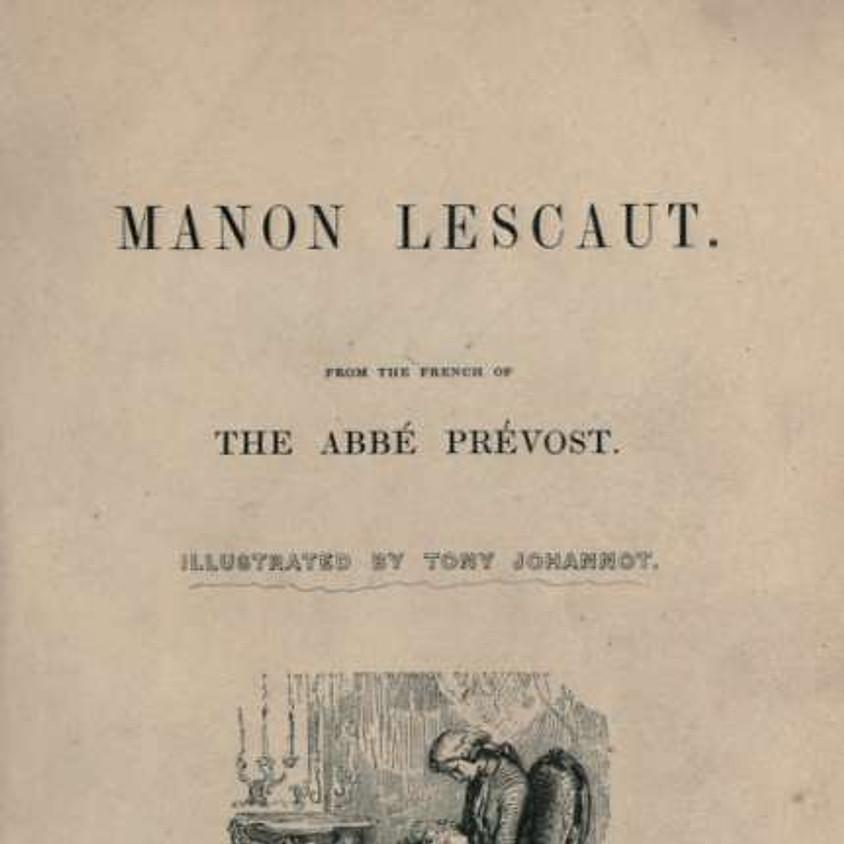 Vivace: Santa Fe Opera Guild Bookclub: Manon Lescaut by Abbé Prévost