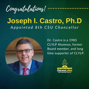 Alumnus, Dr. Joseph Castro named CSU Chancellor