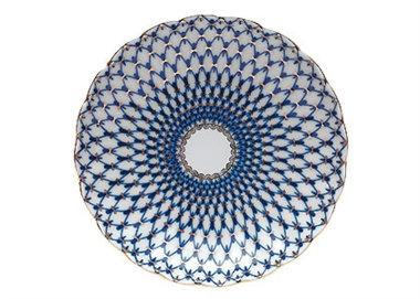 Cobalt Net Cake Dish