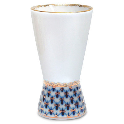 Cobalt Net Napkin Vase