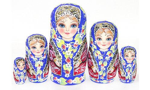 Matryoshka Olga / 5 dolls/ 18cm