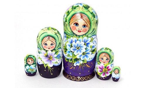Matryoshka Natasha & Violets