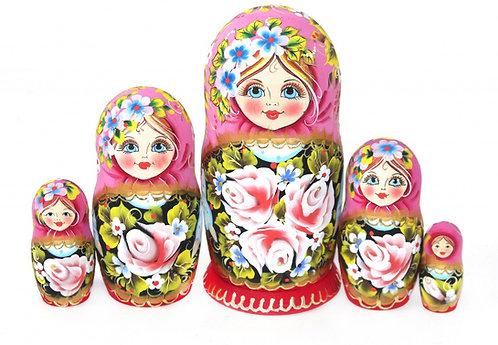 Matryoshka Varen'ka/ 5 dolls/17 cm