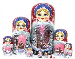 "Matroshka ""Snow"" 10 Dolls"
