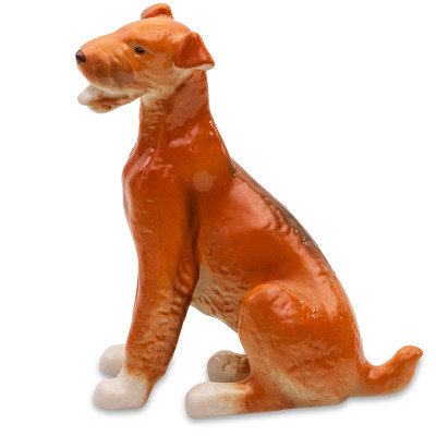Sitting Airedale Terrier Figurinе