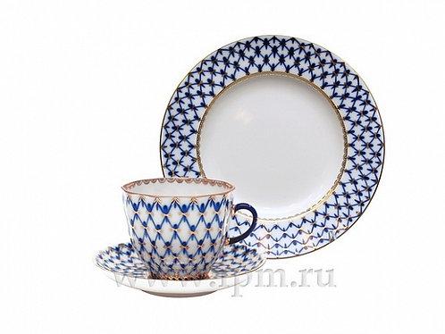 Cobalt Net Coffee  Set (3 pcs.)