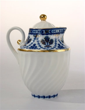 Cobalt Frieze Creamer & Sugar Bowl Set of Two