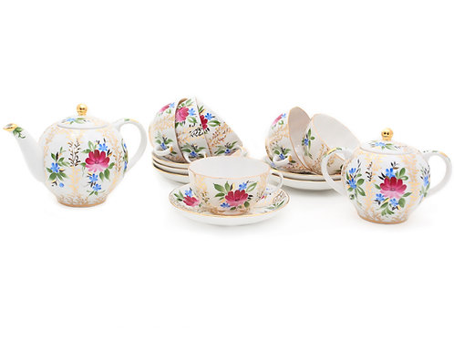 Tea Set Tulip Golden Grasses 6person/14pcs