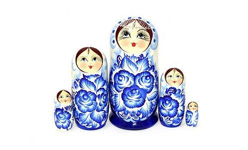 Matryoshka Samozvety/ White