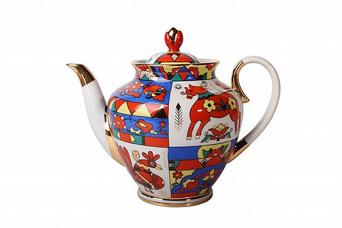 Folk Patterns Brewing Teapot 2L