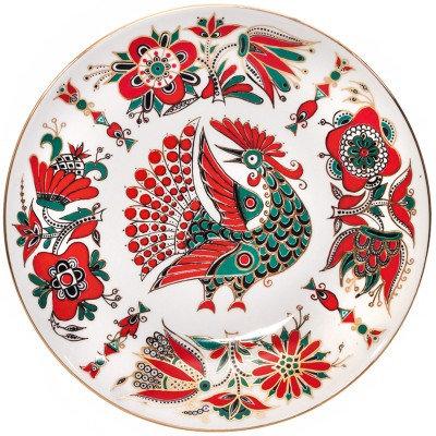 Red Bird Decorative Plate