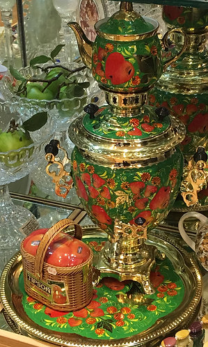 "Electric Samovar Set of 3 pcs ""Apples"""