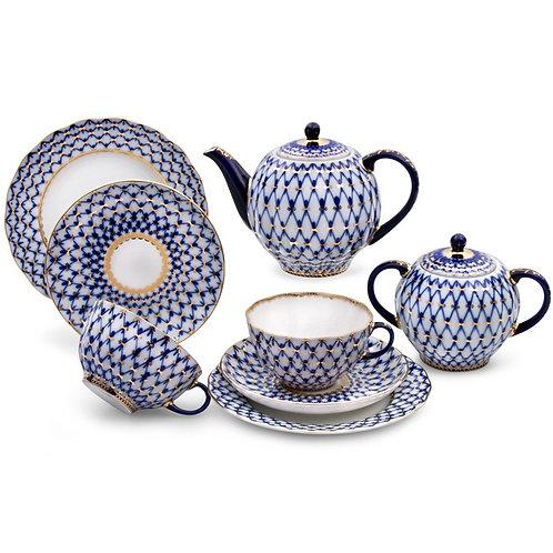 Cobalt Net Tea Set for 6 persons (20 pс.)