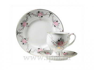 BONE CHINA COFFEE SET GALANT CUP 5,41 OZ/160 ML 3PC