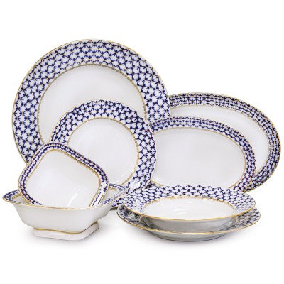 Cobalt Net 24 pc. Dinner Set for 6 persons